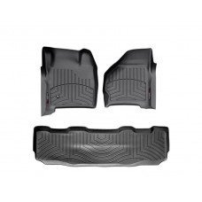 Nissan Frontier Floor Mats by WeatherTech, Front and Rear, Crew Cab, One Hook, Black, 2005-2018 (D40)