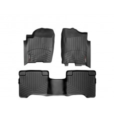 Nissan Armada Floor Mats by WeatherTech, 1st and 2nd Row, Black, One Post Hole, 2004-2011 (TA60)