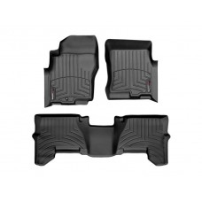 Nissan Pathfinder Floor Mats by WeatherTech, Front and Rear, One Post, Black, 2005-2011 (R51)