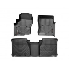 Nissan Frontier Floor Mats by WeatherTech, Front and Rear, King Cab, One Hook, Black, 2005-2017 (D40)
