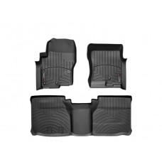 Nissan Frontier Floor Mats by WeatherTech, Front and Rear, Crew Cab, Two Hook, Black, 2005-2018 (D40)