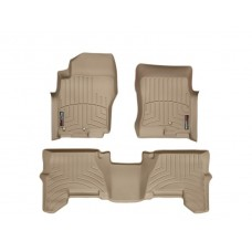 Nissan Pathfinder Floor Mats by WeatherTech, Front and Rear, Two Post, Tan, 2005-2011 (R51)