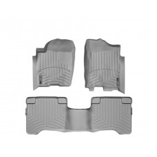 Nissan Armada Floor Mats by WeatherTech, 1st and 2nd Row, Grey, One Post Hole, 2004-2011 (TA60)