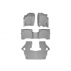 Nissan Armada Floor Mats by WeatherTech, 1st, 2nd and 3rd Row, Grey, One Post Hole, 2004-2011 (TA60)