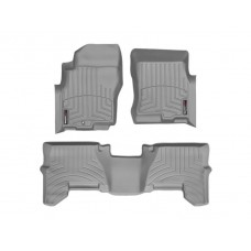 Nissan Pathfinder Floor Mats by WeatherTech, Front and Rear, One Post, Grey, 2005-2011 (R51)