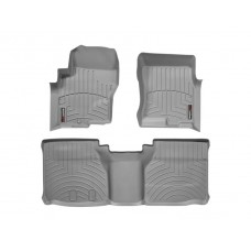 Nissan Frontier Floor Mats by WeatherTech, Front and Rear, Extended Cab, Two Hook, Grey, 2005-2017 (D40)