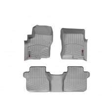 Nissan Frontier Floor Mats by WeatherTech, Front and Rear, Crew Cab, One Hook, Grey, 2005-2017 (D40)