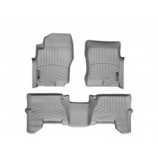 Nissan Pathfinder Floor Mats by WeatherTech, Front and Rear, Two Post, Grey, 2005-2011 (R51)