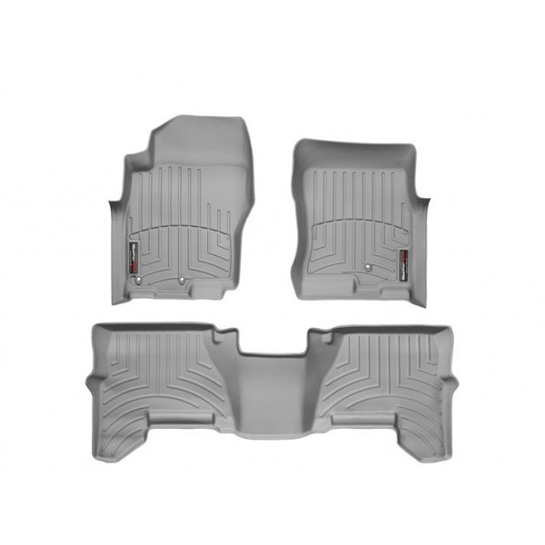 Nissan Pathfinder Floor Mats By WeatherTech, Front And Rear, Two Post, Grey,