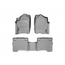 Nissan Armada Floor Mats by WeatherTech, 1st and 2nd Row, Grey, Two Post Holes, 2008-2011 (TA60)