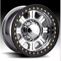Monster Forged Aluminum Beadlock Wheel w/ Steel Ring by Raceline, RT135, 17x9.5, 6x6.5, 4.5