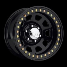 Daytona Black Steel Beadlock Wheel by Raceline, RT515, 15x7, 6x5.5, 3.75