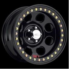 Rock 8 Black Steel Beadlock Wheel by Raceline, RT815, 15x10, 6x5.5, 3.75