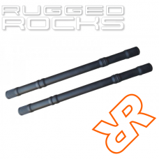 Nissan Frontier Titan Swap Extended Front Chromoly Axle Shafts By Rugged Rocks, Pair, R180, 2005-2018 (D40)