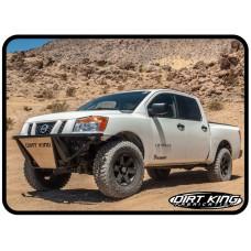 Nissan Titan Prerunner Bumper by Dirt King, Front, 2004-2015 (A60)
