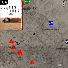 Glamis Dunes, CA Off Road GPS Map Card for Lowrance HDS / Elite Ti