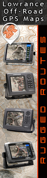Lowrance off road GPS units and GPS satellite maps