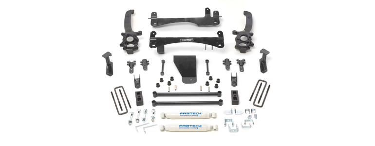 Nissan Frontier 6 Inch Suspension Lift w/ Stealth Rear Shocks by Fabtech, 2006 - 2012
